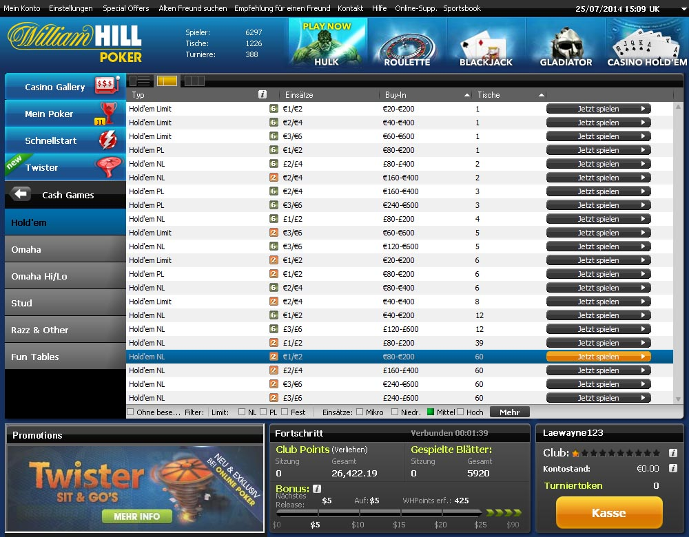 William hill mobile bacará dinero real 146422