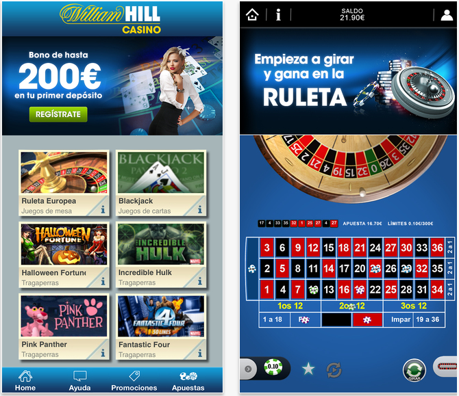 Variedad de bonos mobile william hill 860433